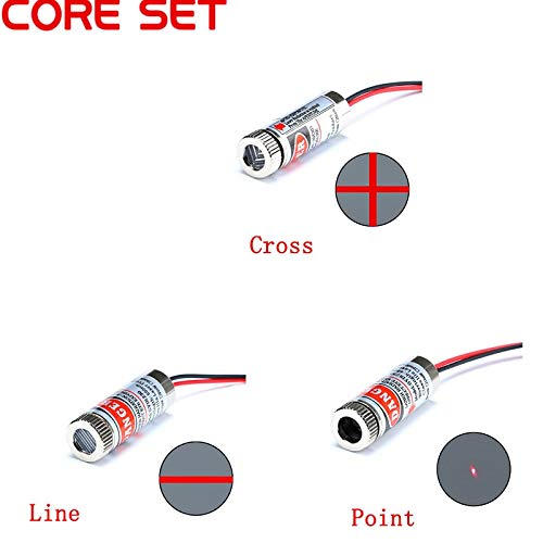 Eaglers 650nm 5mw Red Point/Line/Cross Module Head Glass Lens Focusable Focus Adjustable Diode Head Industrial Class