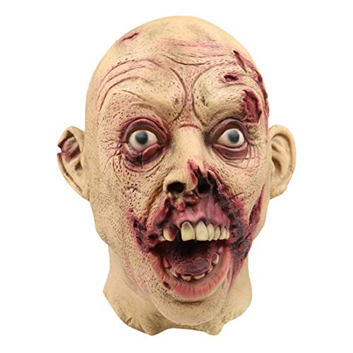 Different Couples Costumes (Halloween Full Head Bloody Scary Mask Melting Face Adult Latex Cosplay Costume Walking Dead (As Shown, 1x Halloween)