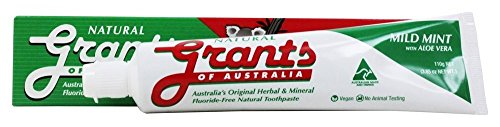 Grants of Australia - Natural Toothpaste Mild Mint with Aloe Vera - 3.85 ()