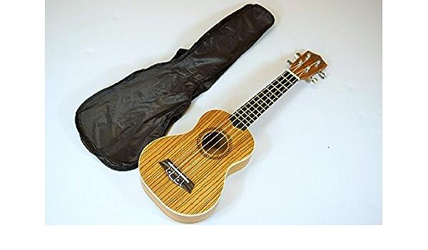 Wiki - Ukelele soprano de 53 cm de madera de cebrano