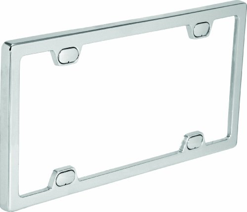 Bell Automotive 22-1-46092-8 Universal License Plate Frame with Clear Cover, Chrome ()