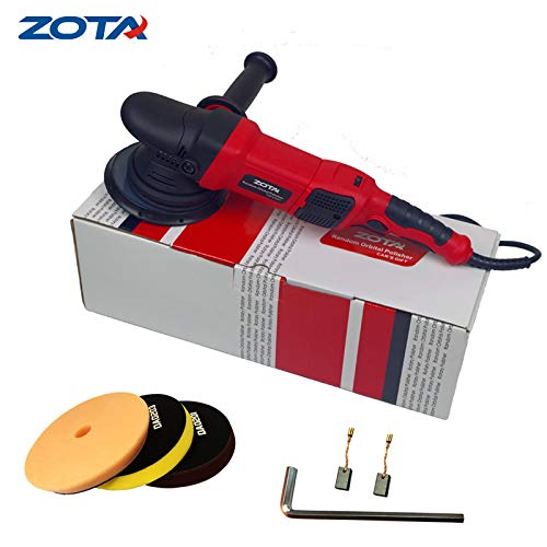 ZOTA Polisher, 21mm Long-Throw Upgraded Random Orbital Polisher,6.5'' Dual Action Car Buffer kit with 3 Professional Pad and 13' Cord by ZOTA (Image #3)