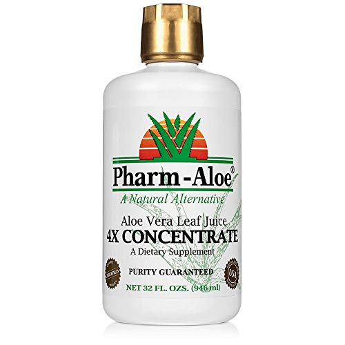 Aloe Vera Juice by Pharm-Aloe, Great for Digestion, Immune Support, Natural Detox and More. 32fl. Oz.