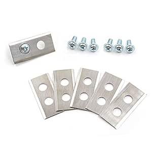 ECENCE Hojas de Repuesto Tipo Cuchillas de Acero Inoxidable para Robot cortacésped - 9 Piezas - para Worx Landroid - Incluye Tornillos 41030309