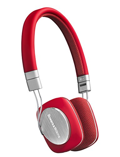 Bowers & Wilkins P3 Recertified Mobile Headphones, Red/Grey (Wired)