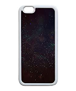 VUTTOO Iphone 6 Case, Deep Dark Space Stars TPU Rubber Case for Apple iPhone 6 4.7 Inch White Bumper