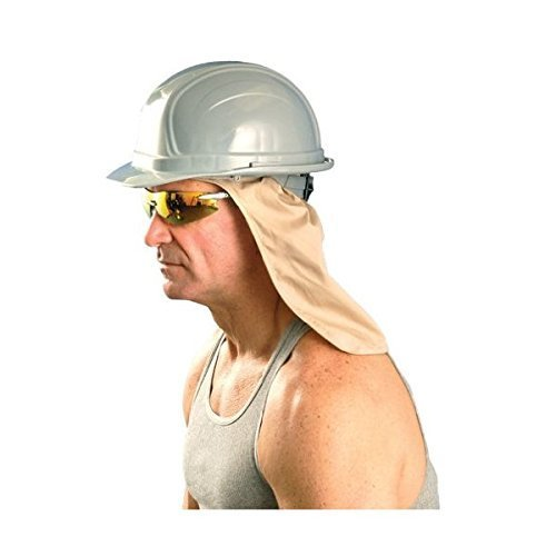 - Cooling Hard Hat Neck Shade, w/Terry Sweatband, One Size, Khaki, 971 by OccuNomix