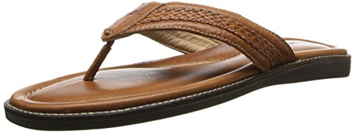 Tommy Bahama Men's Anchors Away, Brown Leather, 8 D-Medium
