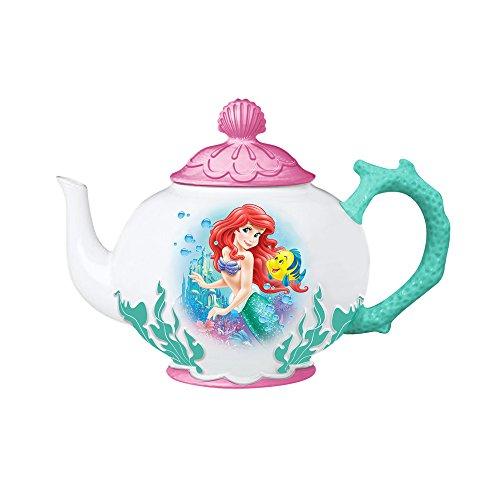 Vandor Disney The Little Mermaid Ariel and Flounder Ceramic Teapot (91008)