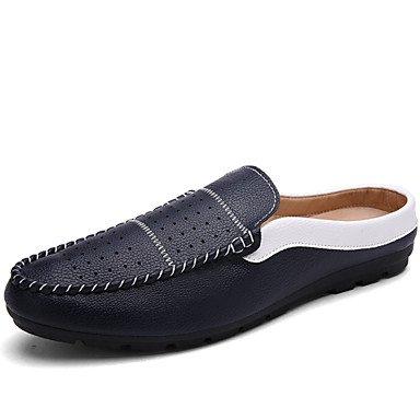 Zapatos de hombre exterior / Mocasines Casual negro / azul / blanco / Borgoña Blue