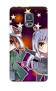 Durable Protector Case Cover With Anime Angel Beats Kanade Tachibana Yuzuru Otonashi Hot Design For Galaxy S5 (ideal Gift For Lovers)