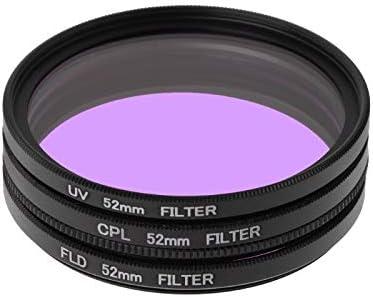 Case Set 37mm 40.5mm 43mm 46mm 49mm 52mm 62mm 67mm 72mm Camera Accessories 37mm UV//FLD//CL Multi-Coated Glass Filter Lens