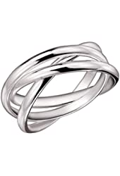 MIMI 925 Sterling Silver 3 Triple Band Rolling Russian Wedding Ring