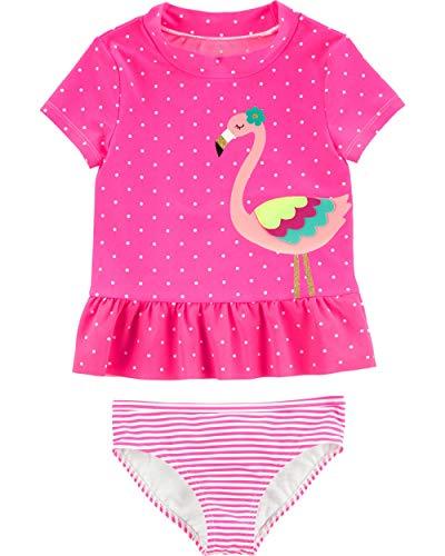 Carter's Baby Girls Rashguard Set, Flamingo, 12 Months ()