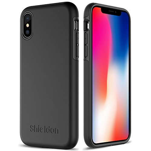 iPhone X Case, iPhone 10 Case, SHIELDON Hybrid [Dual Layer] Shockproof Anti-scratch Protection Case with TPU Bumper + Non-slip Hard Back Cover [Plateau Series] for Apple iPhone X (5.8