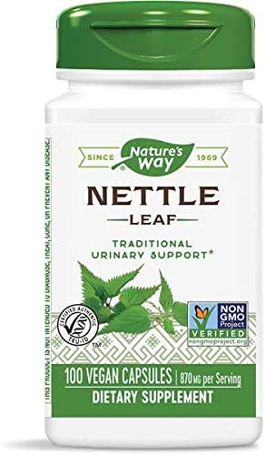 Nature s Way Nettle Leaf 435 mg, TRU-ID Certified, Non-GMO Project, Vegetarian, 100 Count, Pack of 2