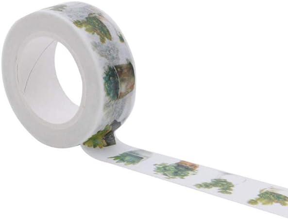 Tape Plantas En Maceta Suculentas Imprimir Cinta Adhesiva Adhesivo De Oficina Scrapbooking 3 Pc/Pack 15Mm * 10M: Amazon.es: Hogar