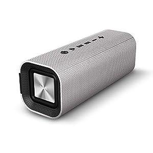 HAVIT V4.2 Enceinte Bluetooth Portable Puissante Speaker, Haut Parleur Bluetooth avec 14 heures de jeu et plus de 10M sans fil gamme, Batterie 2200mAh, Support Appel Mains-libres et Entrée audio pour Bluetooth, Entrée filaire, Carte TF – Compatible avec les Appareils Bluetooth(Gris)