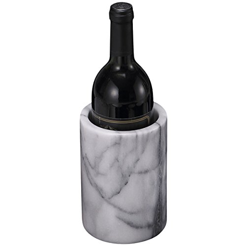 Creative Home Natural White Marble Wine Cooler, Tool (White Wine Chiller)