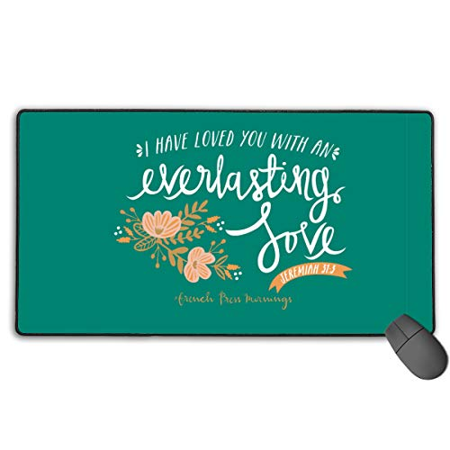 GGlooking Mousemat Everlasting Love Mouse Pad Gaming Mat Computer Mousepad Large Non-Slip Keyboard Desk Accessories,Office & School Supplies