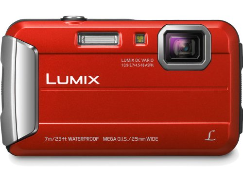 Panasonic Lumix DMC-TS25 16.1 MP Tough Digital Camera with 8x Intelligent Zoom (Red) by Panasonic