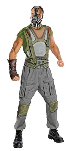 UHC Men's Deluxe Marvel Batman The Dark Knight Rises Bane Halloween Costume, Large (Dark Knight Rises Bane Halloween Mask)