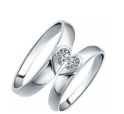 Buy Girlz Platinum Plated Double Heart Forever Couple Rings For Men