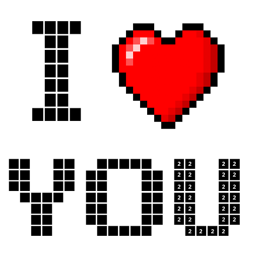 Amazon Com Valentine Pixel Art Paint By Number Sandbox Coloring Pages Appstore For Android