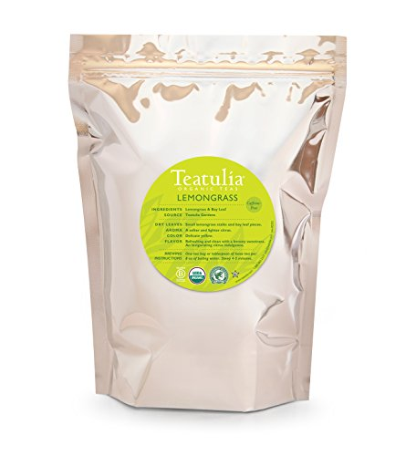 Teatulia Organic Lemongrass Herbal Herbal Infusion, 100-Count pyramid bags