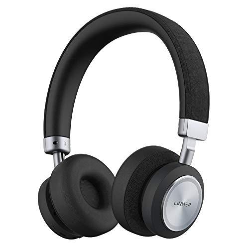 Linner NC80 Active Noise Cancelling Headphones, Bluetooth Headphones with Microphone Hi-res Audio Wireless Headphones On…