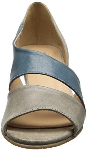 Fidji Womens V135 Vestito Sandalo Taupe / Blu