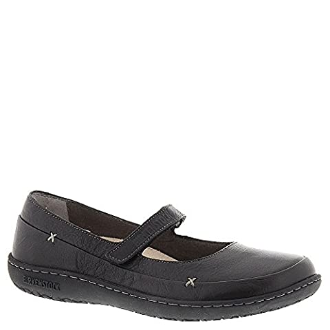 Birkenstock Women's Iona Mary Jane,Black Leather,EU 42 R - Iona Flat Shoe