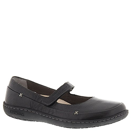 Birkenstock Women's Iona Mary Janes, Black Leather, Rubber, 39 N EU, 8-8.5 N ()