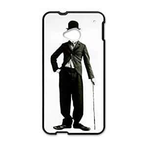 HTC One M7 Cell Phone Case Black Charlie Chaplin P3T6DT