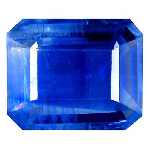 Deluxe Gems 3.35 ct AA+ Octagon Shape (10 x 8 mm) Blue Kyanite Natural Loose Gemstone