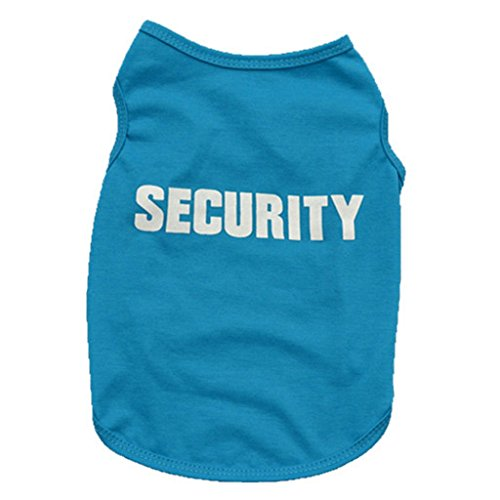 Price comparison product image Laimeng 2017 New Fashion Summer Cute Dog Pet Vest Puppy Printed Cotton T Shirt (M blue)