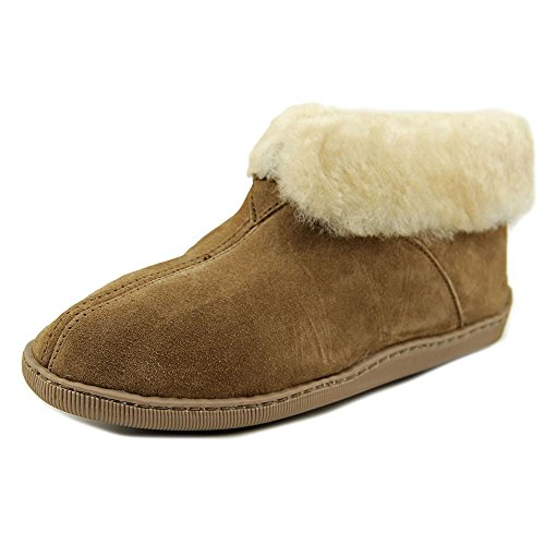 Minnetonka Men's Sheepskin Ankle Boot Golden Tan 12 M (Boot Ankle Sheepskin Slippers)