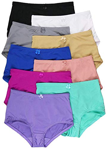 Angelina Underwear Ladies - ToBeInStyle Women's Pack of 6 High-Rise Girdle Panties - Small