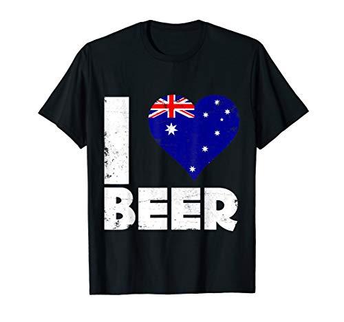 Beer Australia (I Heart Australian Beer Australia Flag Pride Drinking Tee)