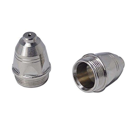 P-80 Plasma Cutter Pilot Arc Torch Consumables Plate Silver Cup 1.3 80Amp 45PCS