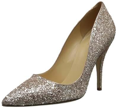 kate spade new york Women's Licorice Too Dress Pump,Rose Gold Glitter,7.5 M US