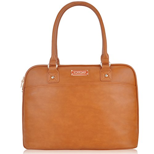 Laptop Tote Bag,15.6 Inch Tote Bag for Women Classic Laptop Case Shoulder Bag for Work Business[L009/Brown]