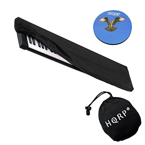 HQRP Elastic Keyboard Dust Cover for Nektar 61-Key 76-Key LX61, Panorama P6 Digital Piano Synthesizer + HQRP Coaster by HQRP