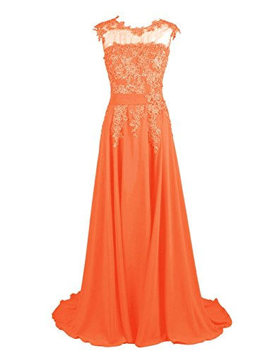 Lang Kleid Abendkleider Appliques Fanciest Orange Women's Homecoming Brautjungfernkleider Ballkleid Minze Ewv1Zq