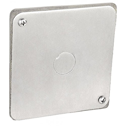 2 Pcs, Stainless Steel 4 Square Flat Gasketed Cover, 1/2 In. Sealed Knockout Used to Cover Existing Wires In 4In Square Boxes In Damp Locations Or Wash Down Areas by Garvin