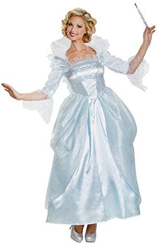 UHC Women's Disney Princess Cinderella Movie Fairy Godmother Prestige Costume, M (8-10) ()