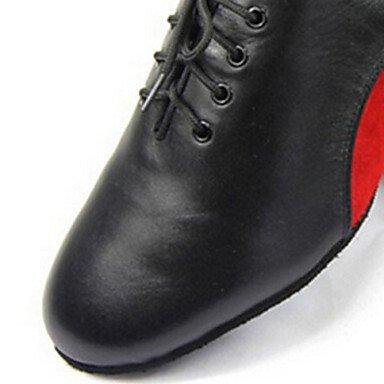 Moderno Tacón Zapatos baile de Rojo Personalizables Cuadrado Azul blue qzPwIFAP
