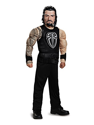 Roman Reigns Classic Muscle WWE Costume, Black, Medium (7-8) ()