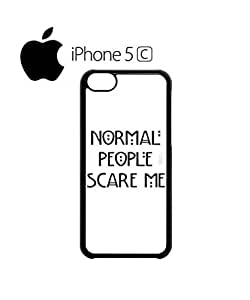 LJF phone case Normal People Scare Me Mobile Cell Phone Case Cover iphone 5/5s Black