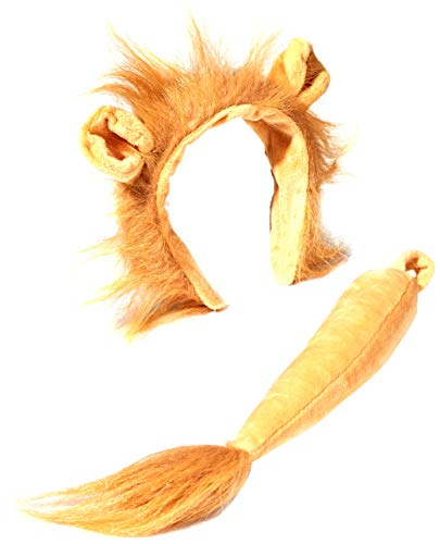 Lion Halloween Ears (Forum Novelties Women's Lion Costume Accessory Kit, Multi, One)